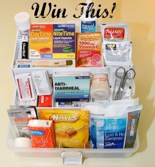 Win the college first aid kit