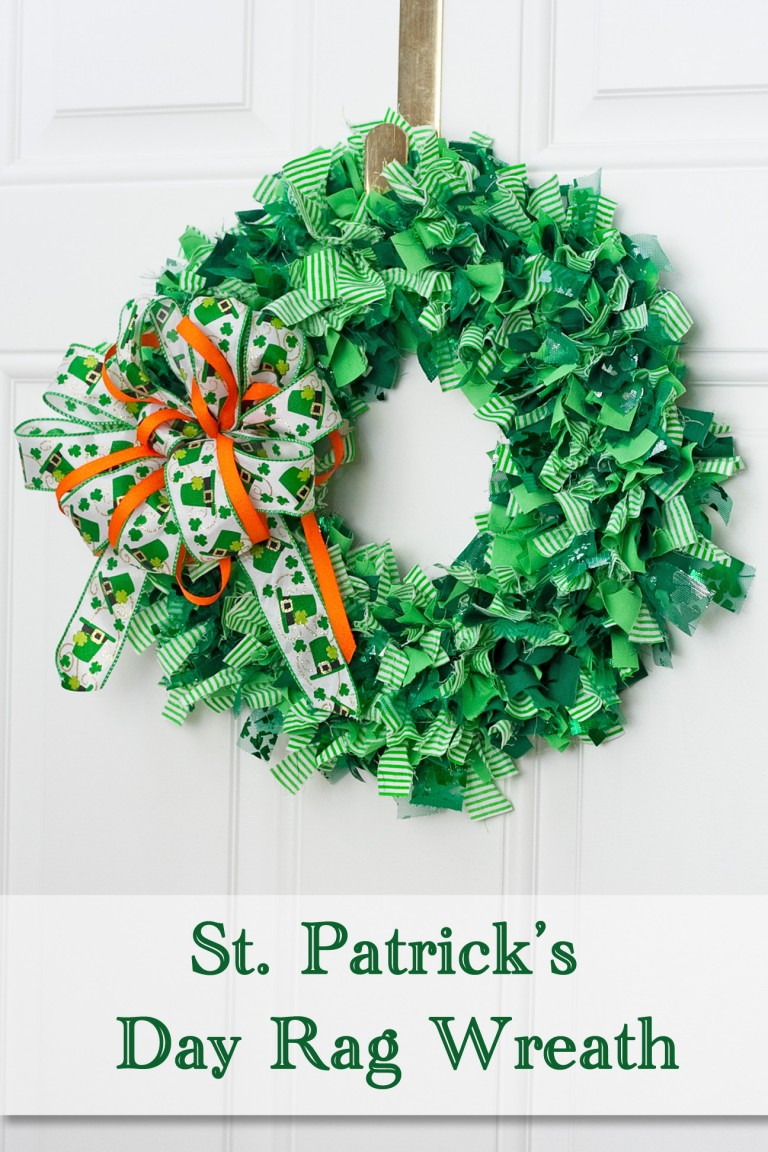 Decorate Your Home with a St. Patrick's Day Rag Wreath