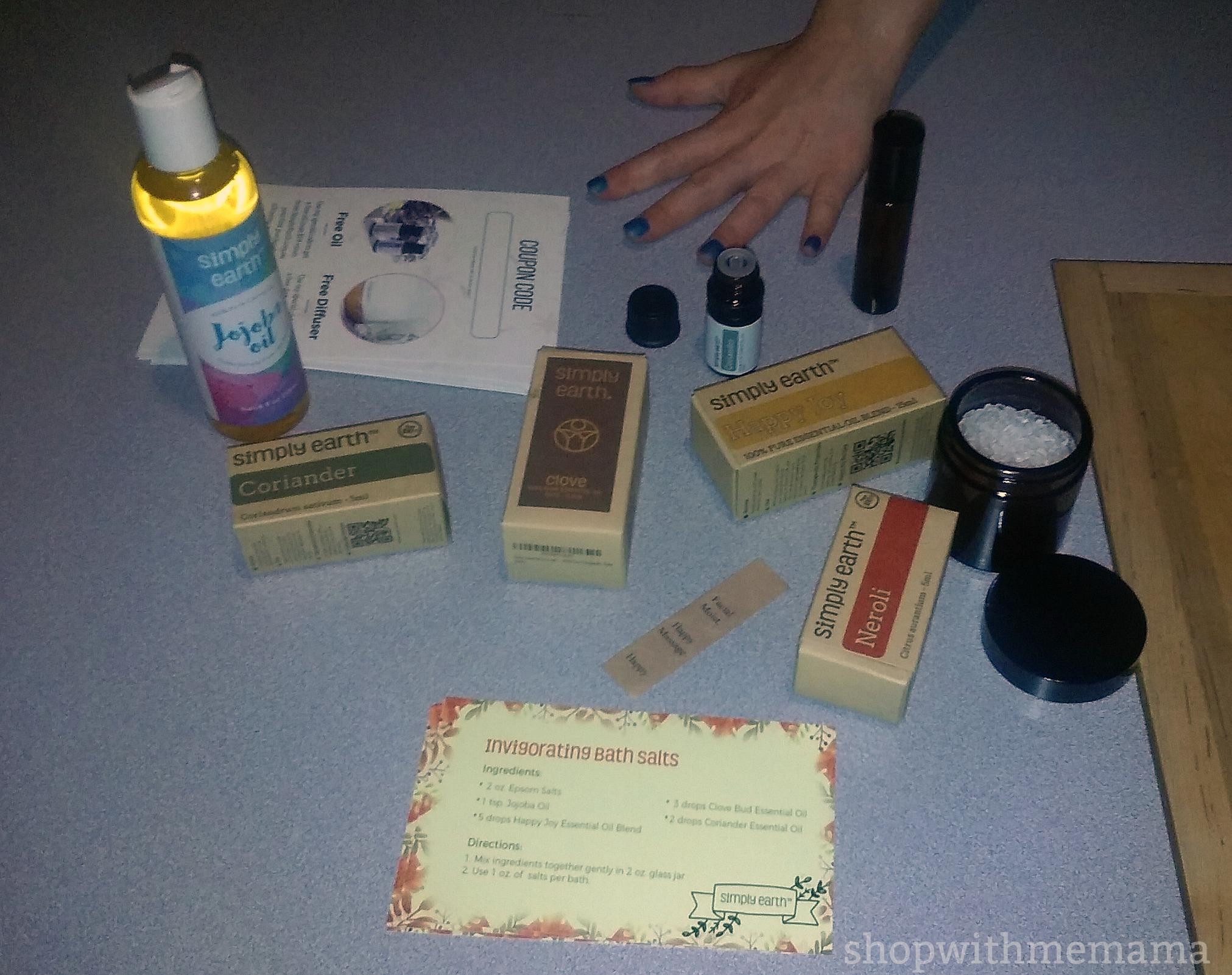 Simply Earth Essential Oils Recipe Box!