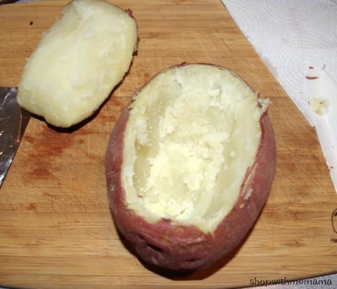 hollowed out potato