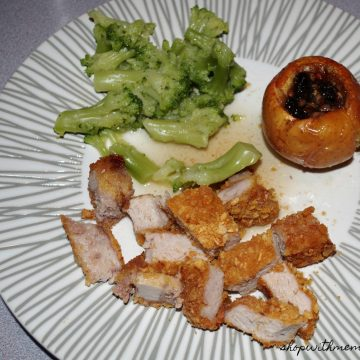 pork chops and stuffed apples