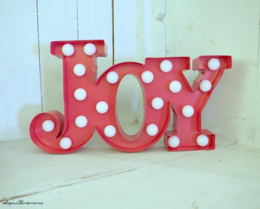 Light Up Joy Sign