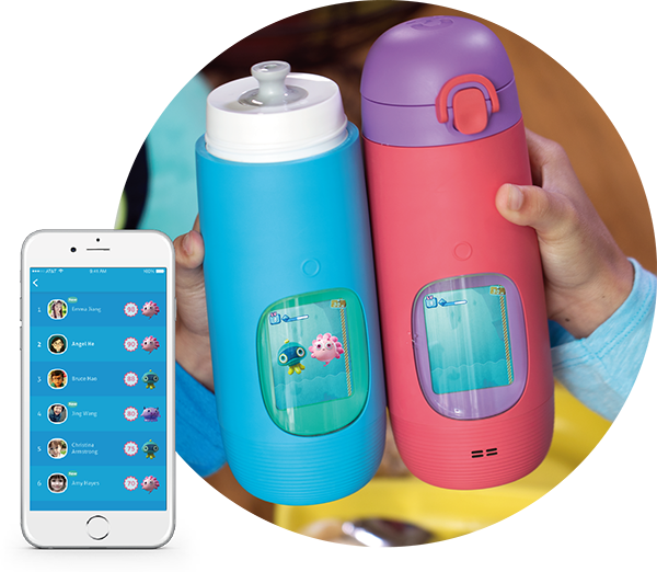 Gululu interactive bottle that keeps your kids hydrated