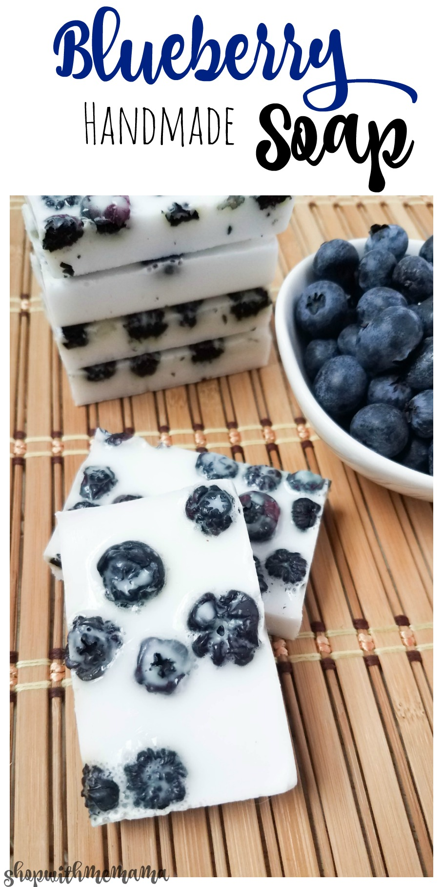 Blueberry handmade soap