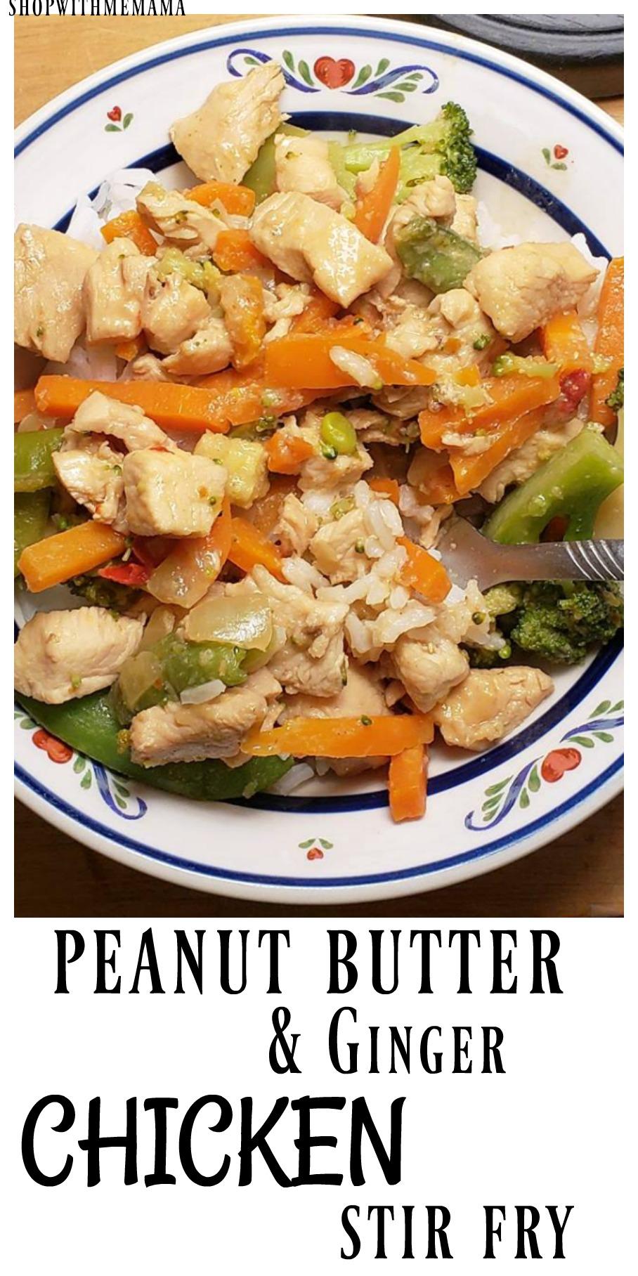 Peanut Butter Chicken Stir Fry