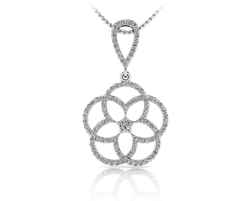 Circles Of Love Diamond Pendant