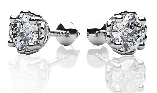 dearest sweetheart diamond stud earrings