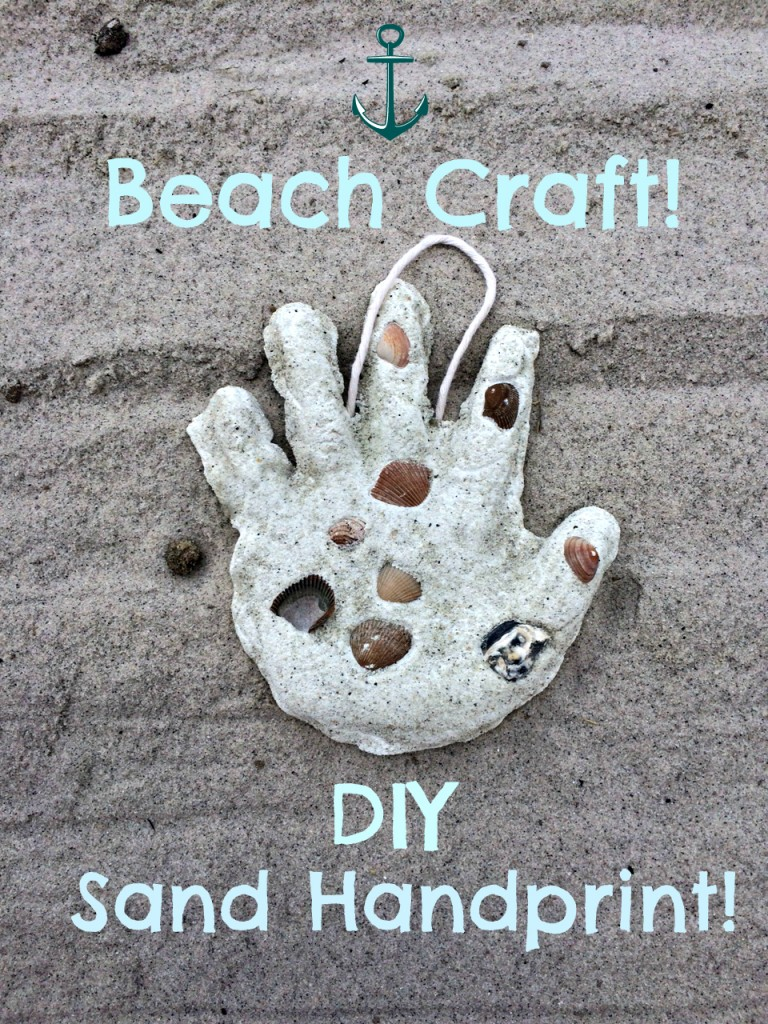 diy beach craft handprint