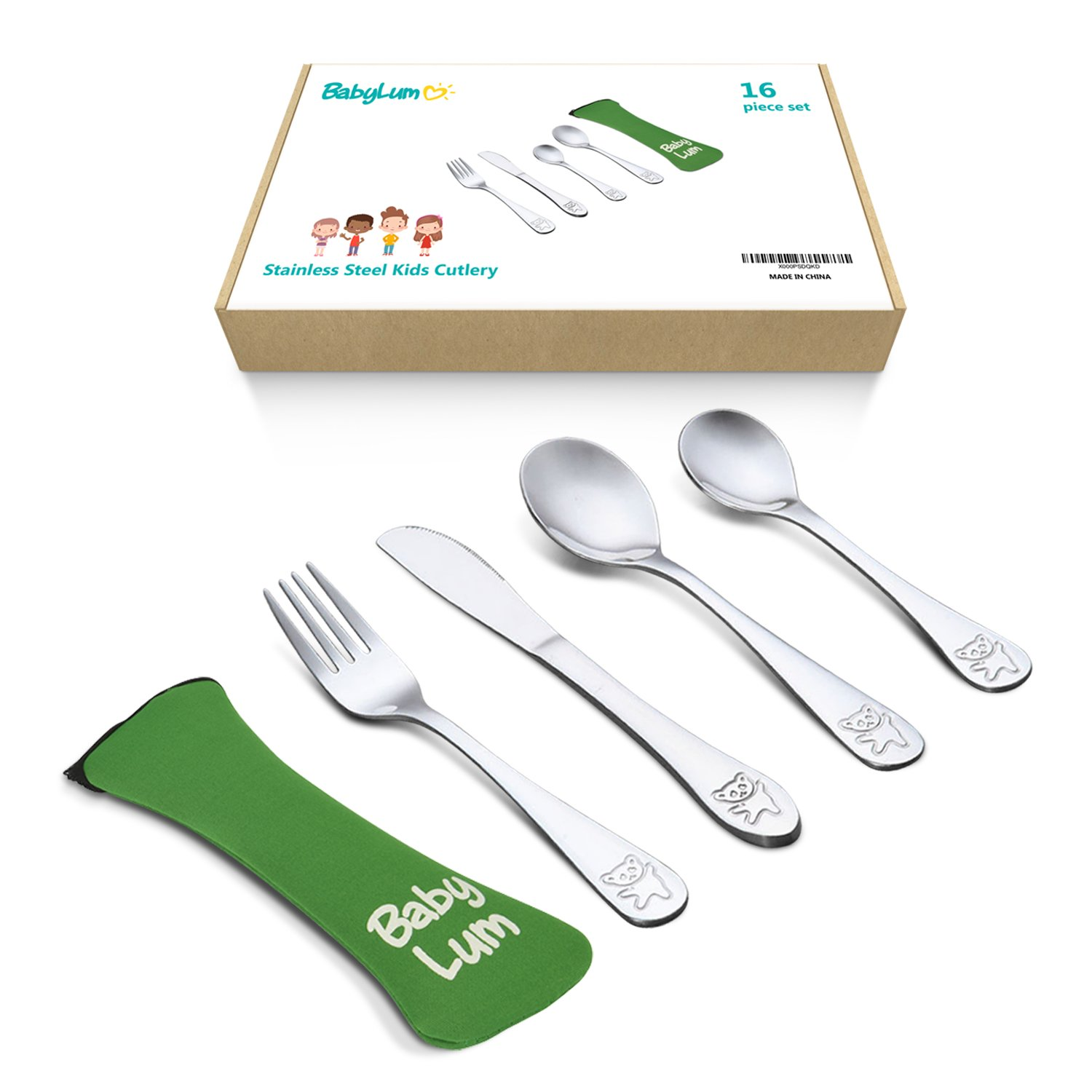 Toddlers Utensils Stainless Steel