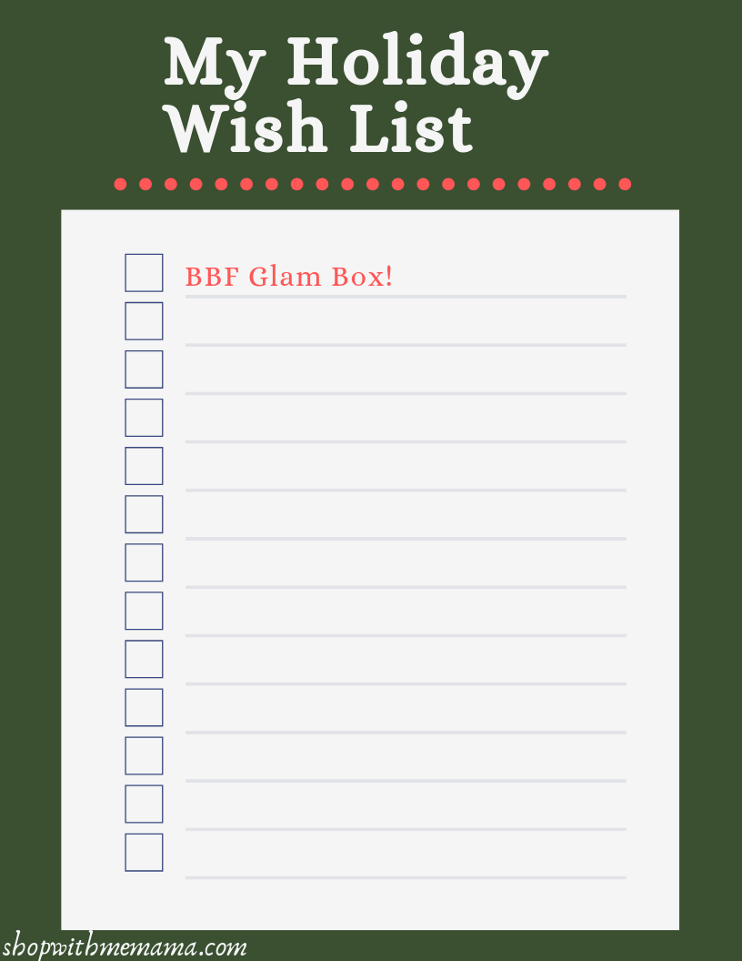 Printable Holiday Wish List