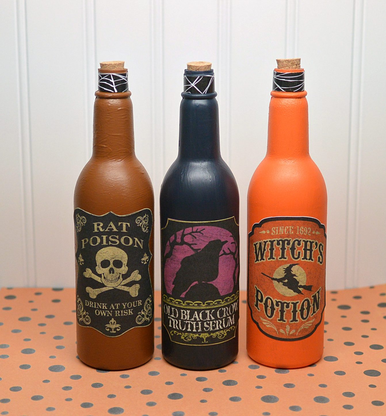 DIY Halloween Potion Bottles