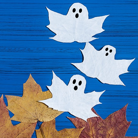 Halloween Ghosts From Maple Leaves