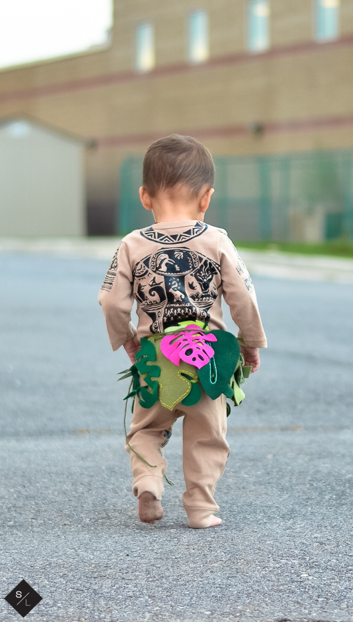 DIY Maui Costume For Toddler