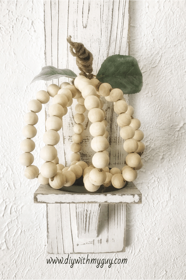 DIY Wood Bead Pumpkin