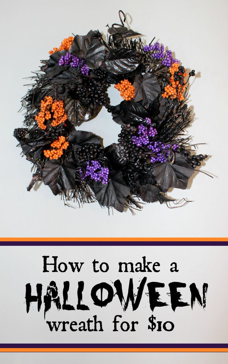 Halloween Wreath for ten dollars