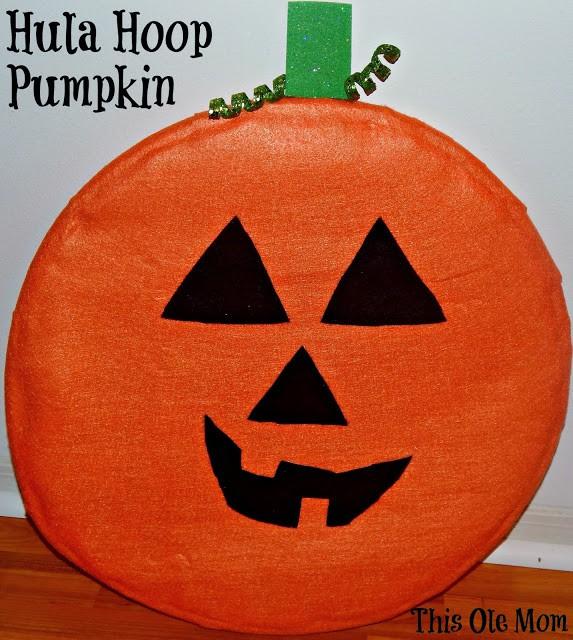 Hula Hoop Pumpkin Craft
