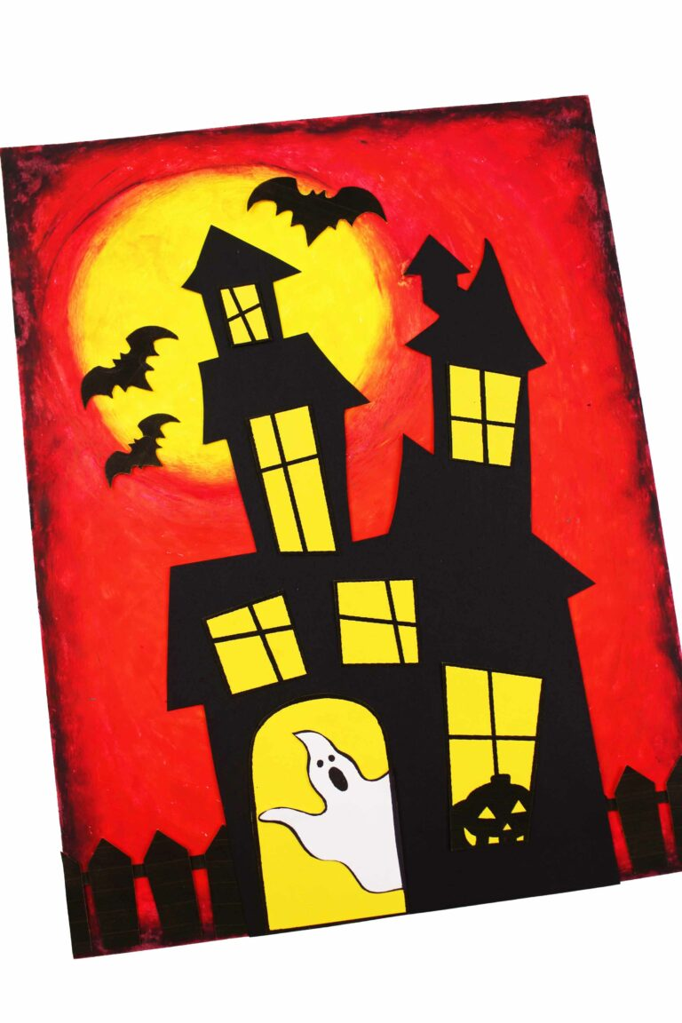 Haunted House Pastel craft