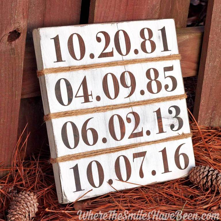 rustic family birthday sign diy