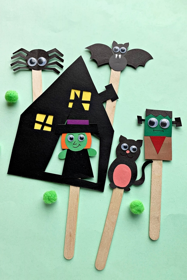 Halloween Puppets and Printable