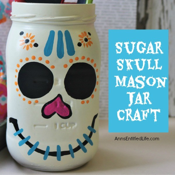 sugar skull mason jar craft