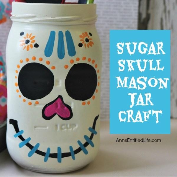 sugar skull mason jar craft