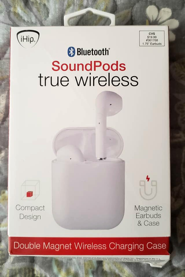 Bluetooth Sound Pods True Wireless $19.99: Great for listening to your favorite tunes while working out or just living your life! Available at CVS!