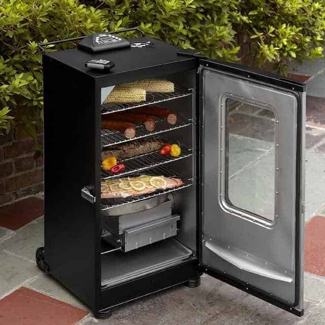 wood chips in a Masterbuilt electric smoker
