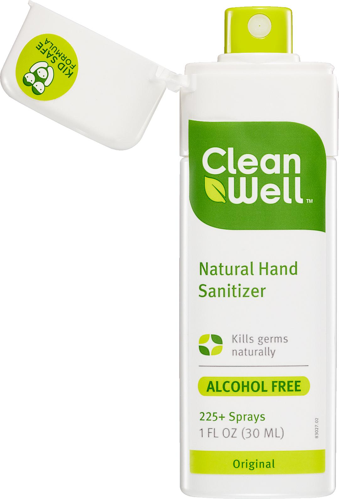 When raising young children, the concern of catching the flu is at an all-time high. Although kids can't completely avoid germ-hubs like school, activity centers, daycare, etc., there are natural products that protect from daily germs and leave your children's hands free of harmful chemicals and the strong smell of alcohol.CleanWell's 1 fl oz. Botanical Hand Sanitizer Spray and Wipes, which kills germs with a proprietary, naturally antibacterial formulation based on thymol.