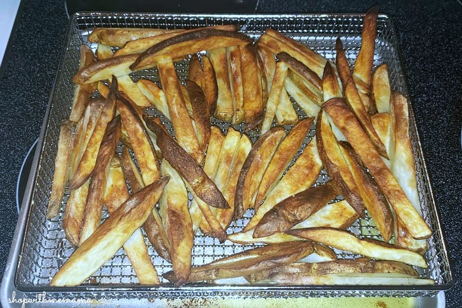 homemade french fries in air fryer