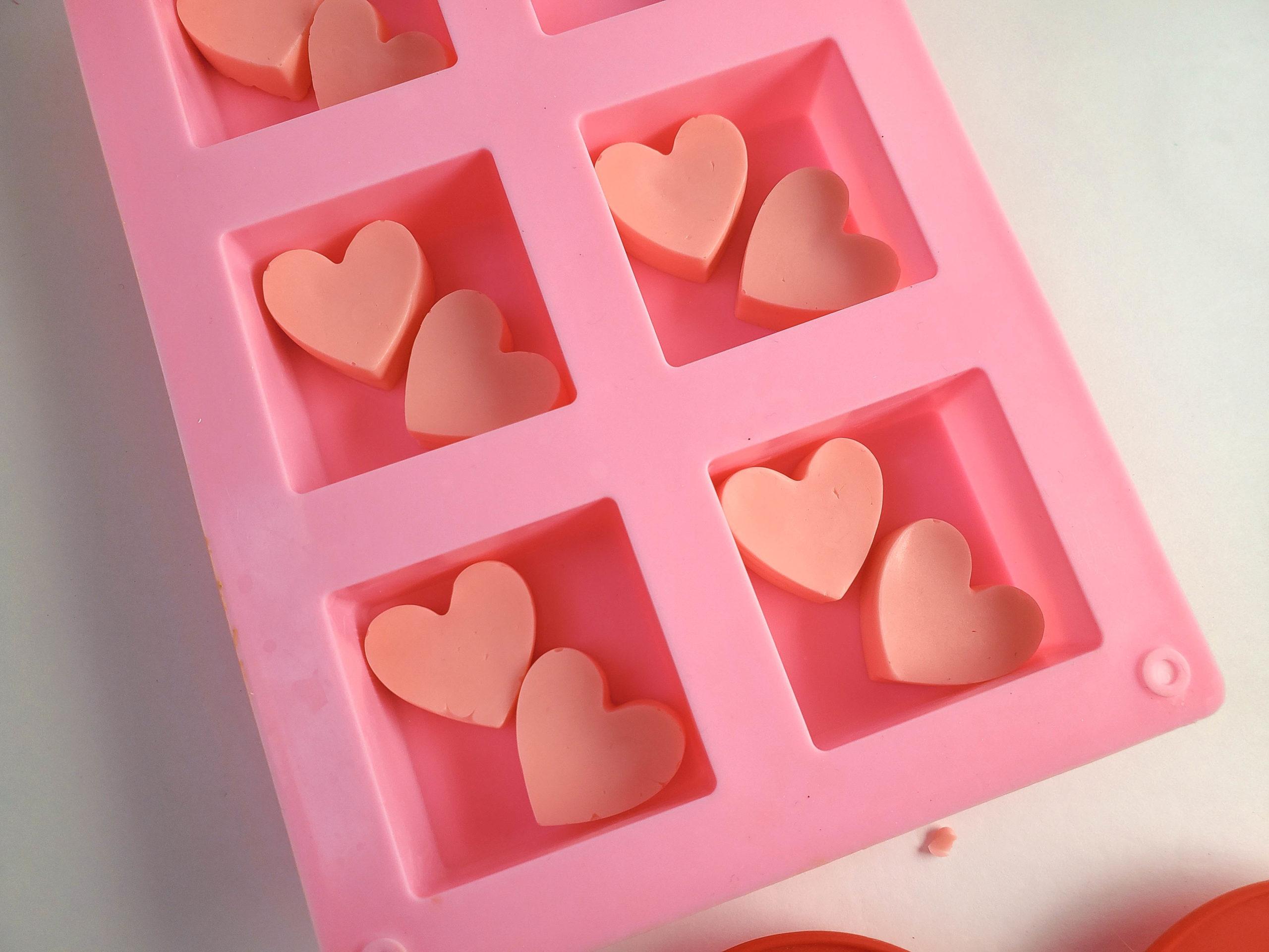 heart soap molds
