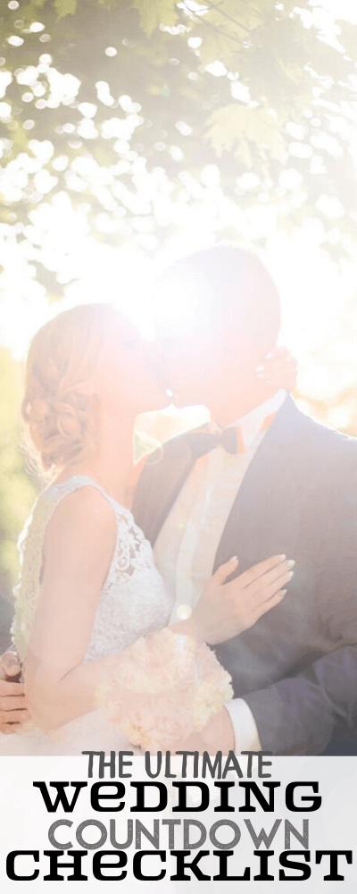 The Ultimate Wedding Countdown Checklist