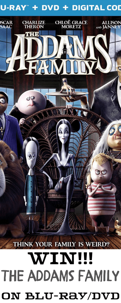 win a copy of addams family on bluray