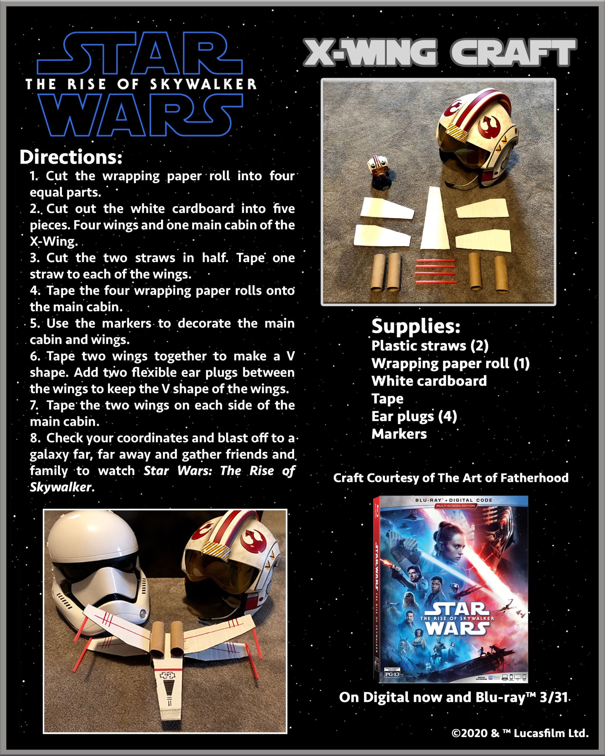 Star Wars: The Rise of Skywalker Movie & X-Wing Craft For Kids