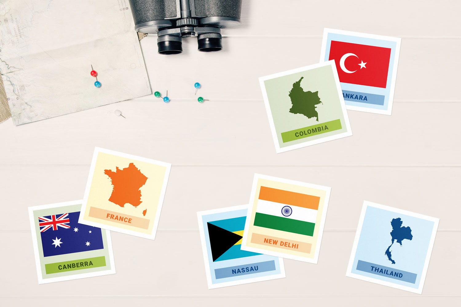 world capitals memory game printable