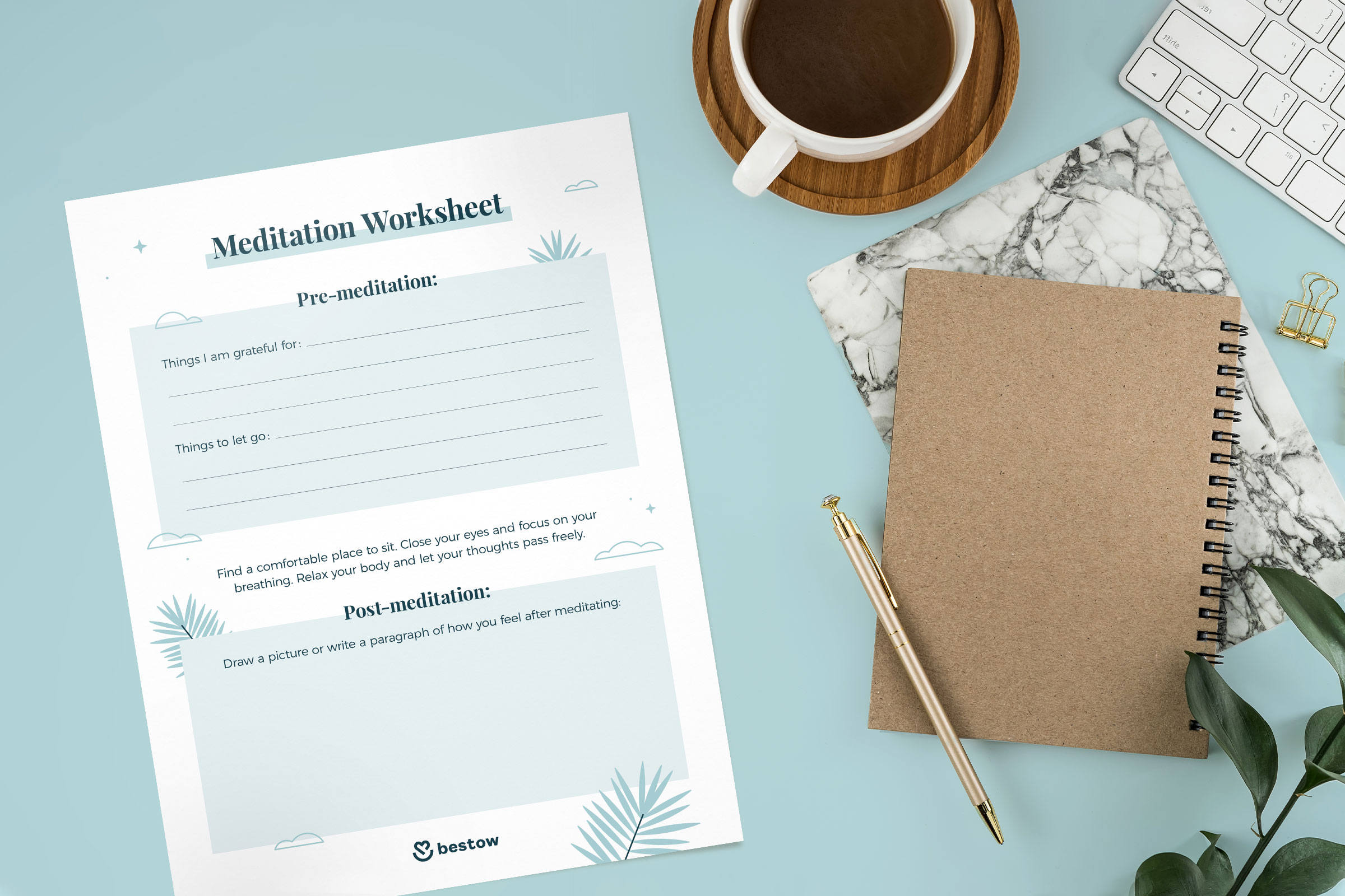 meditation worksheet printable