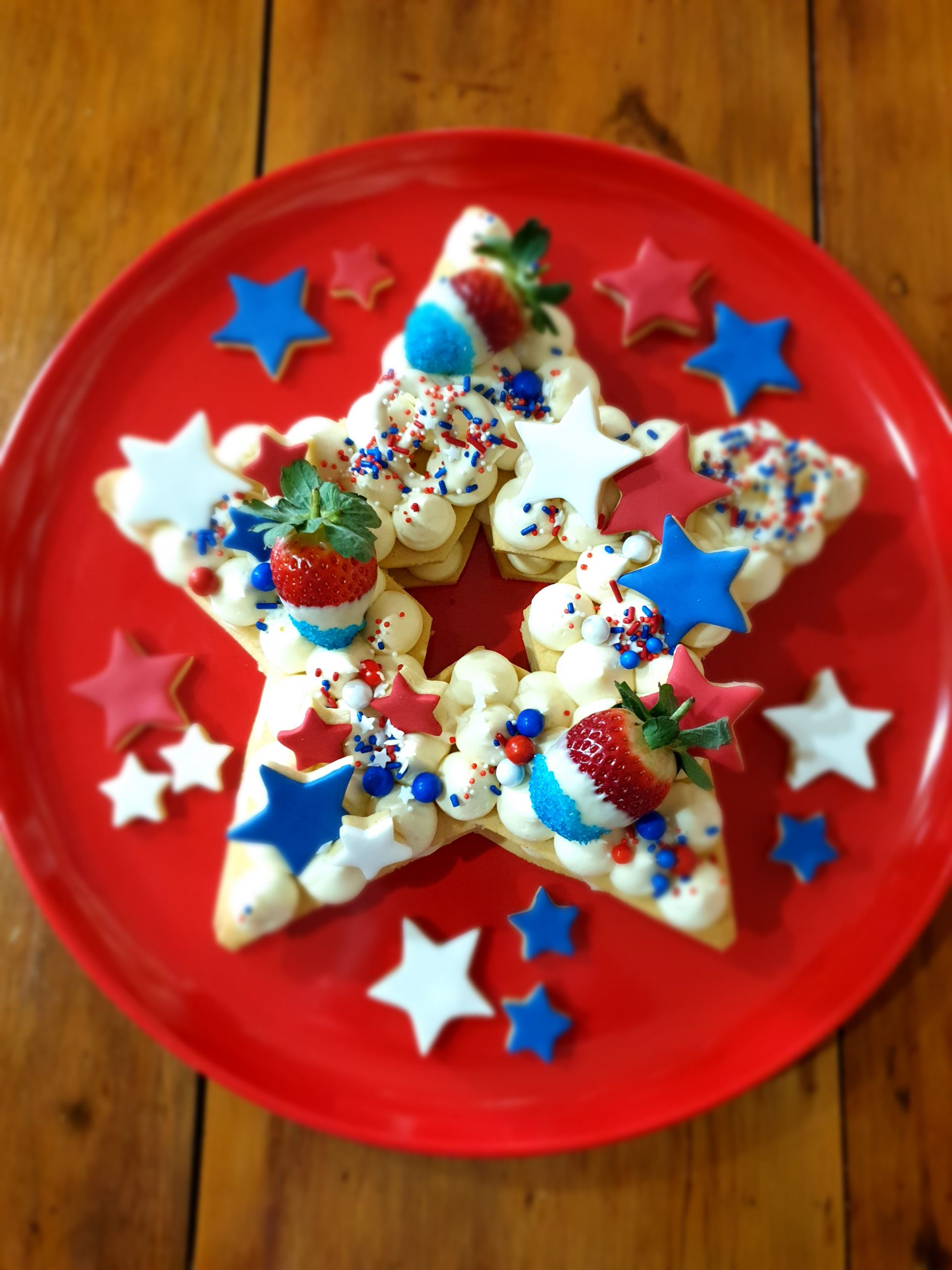 Doughcuts 4th of July Layered Cookie Cake