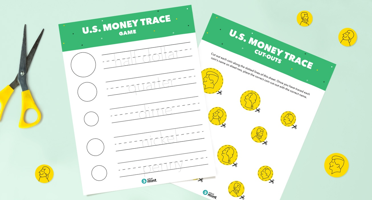 money trace game printable