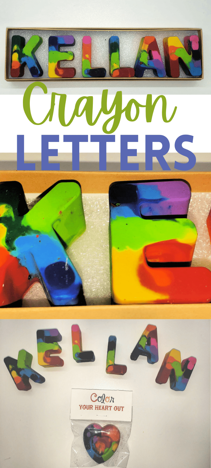 Letters made from Crayons
