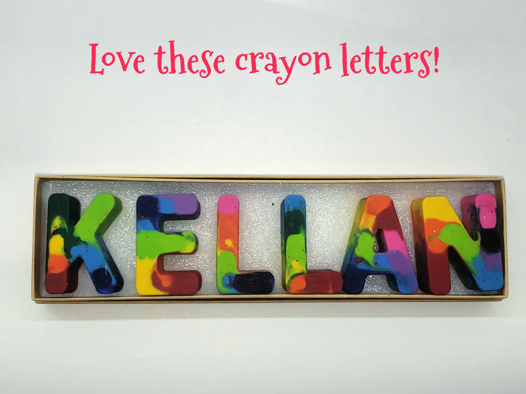 Crayon Letter Art In Rainbow Colors