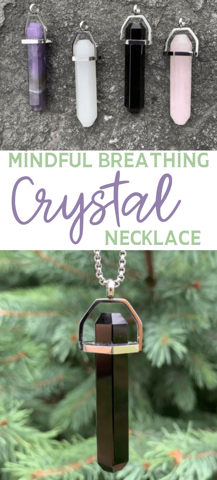 Mindful Breathing Healing Crystals Necklace