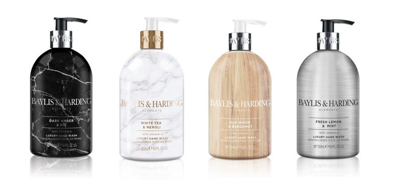 Baylis & Harding, the UK's #1 Décor Display hand wash brand, just launched their new Elements Hand Wash Collection at Walmart. Retailing for $3.97 each, the line embraces interior design trends with stylish marble, stainless steel and wood effect bottles meant to be displayed in your bathroom or kitchen
