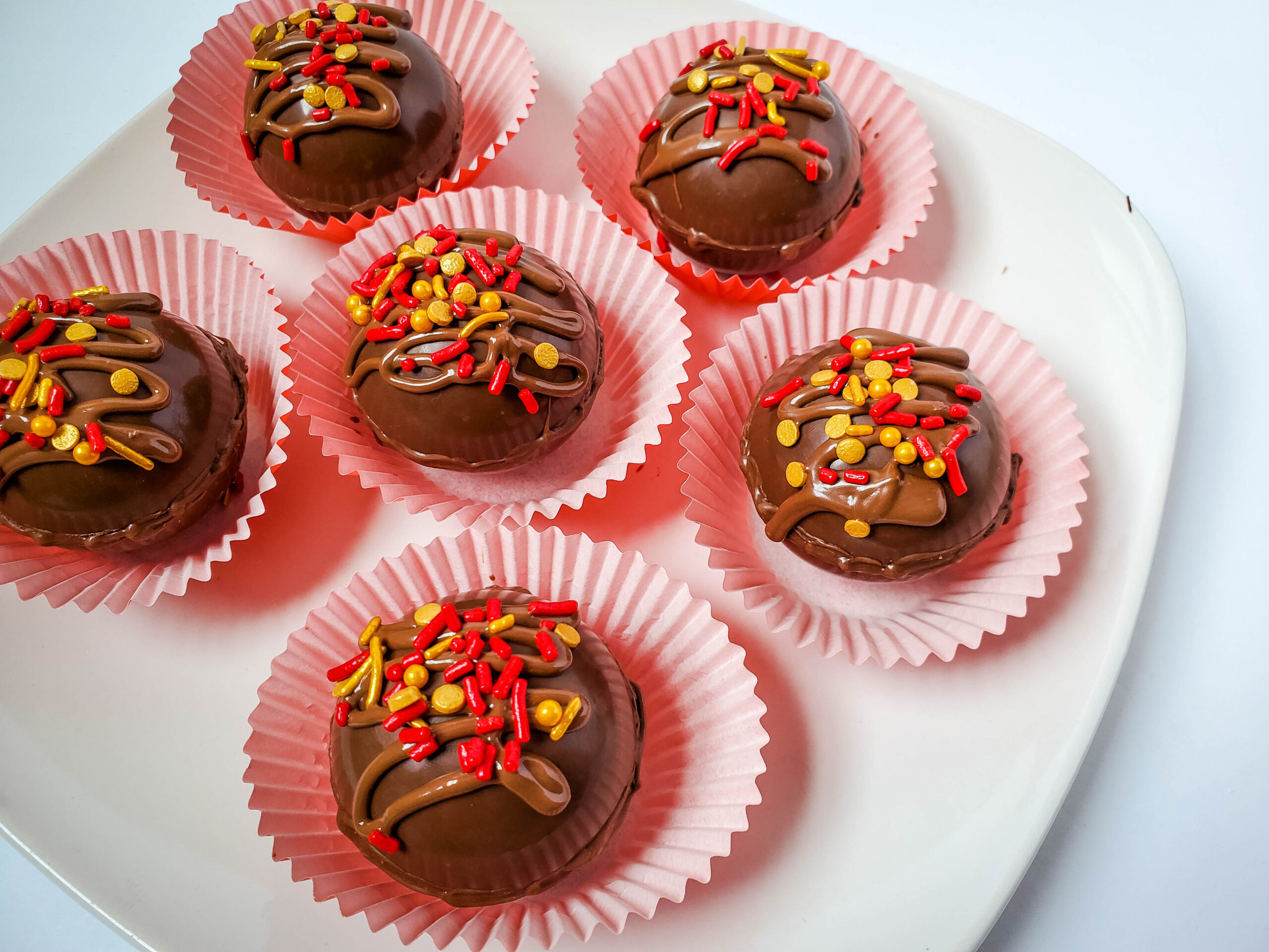 Hot Chocolate Fireball Bombs