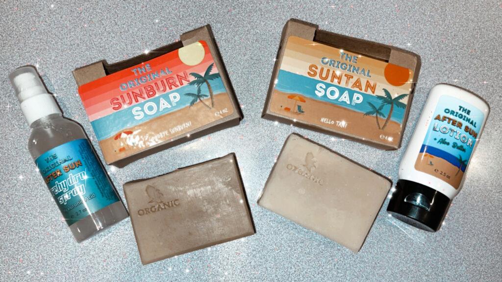 Sunburn Soap and Tan Soap